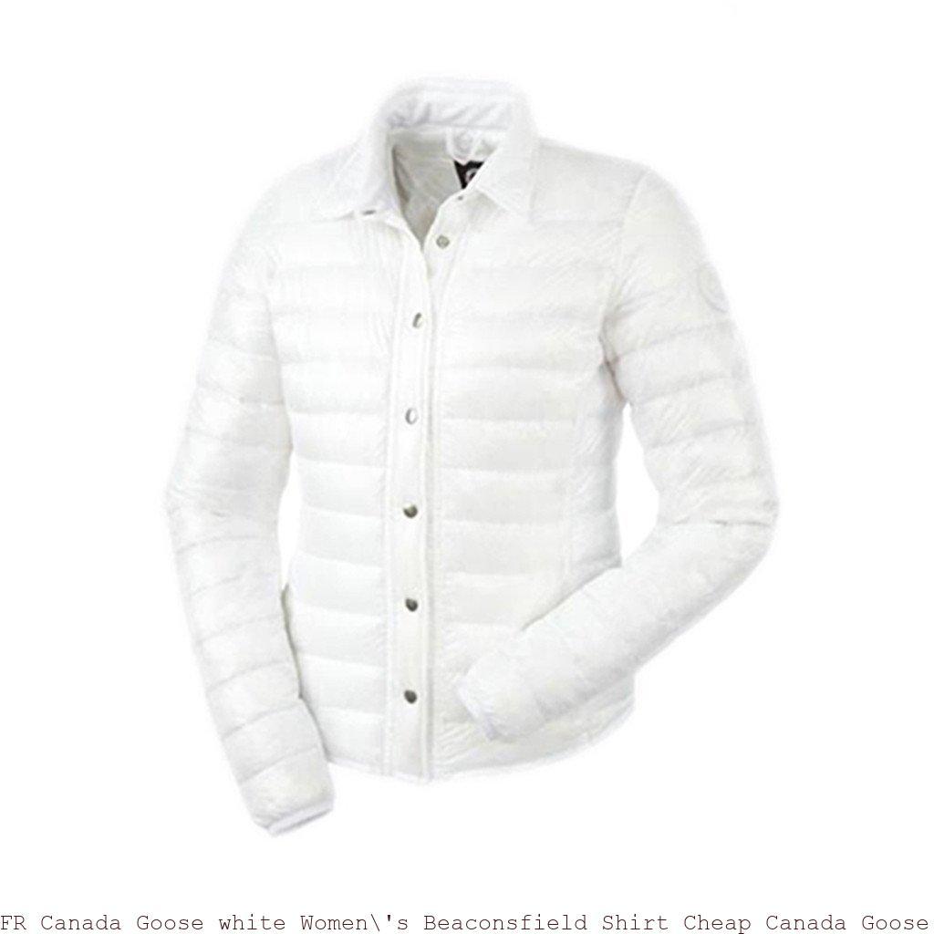 41827c204467f FR Canada Goose white Women  s Beaconsfield Shirt Cheap Canada Goose ...